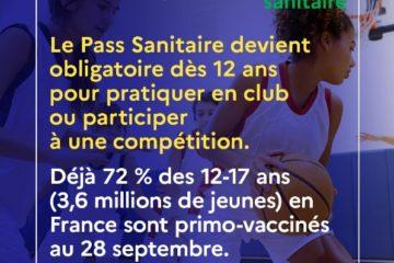 Pass sanitaire dès 12 ans - oct. 2021
